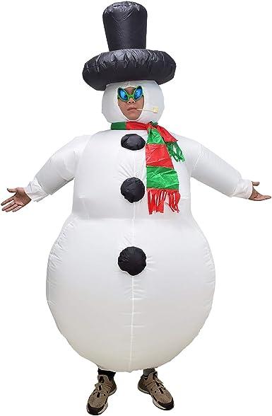 Amazon.com: Poptrend - Disfraz de muñeco de nieve inflable ...