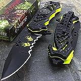 8.25″ ZOMBIE APOCALYPSE BIOHAZARD G'STORE SPRING ASSISTED FOLDING POCKET KNIFE For Sale