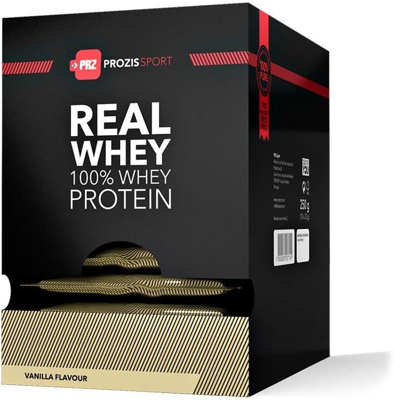 Prozis 100% Real Whey Protein, Chocolate y Avellanas - 10 Unidades