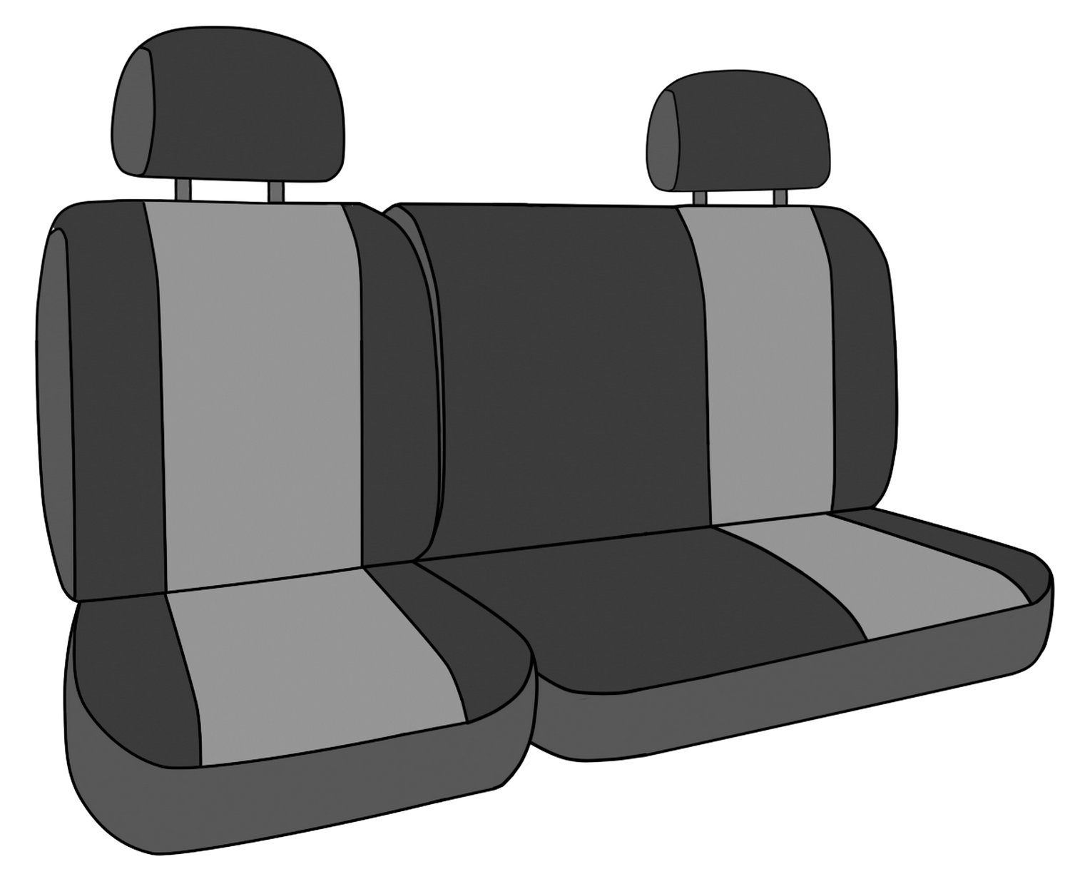 CalTrend Rear Row 60/40 Split Bench Custom Fit Seat Cover for Select Chevrolet Silverado/GMC Sierra Models - DuraPlus (Charcoal) by CalTrend (Image #2)