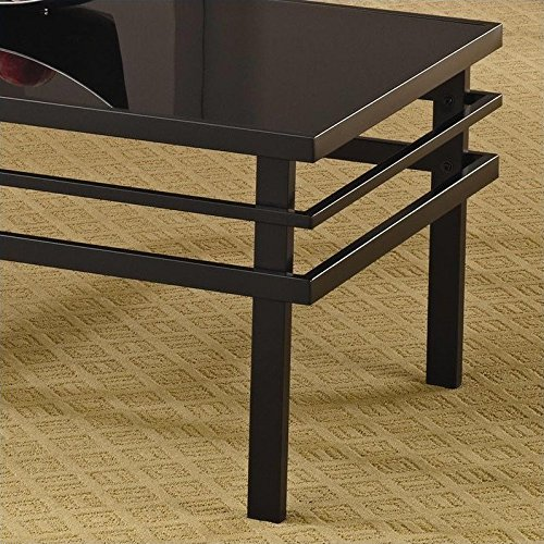Coaster 3 Piece Occasional Table Sets Modern Coffee and End Table Set in Black by Coaster Home Furnishings (Image #3)