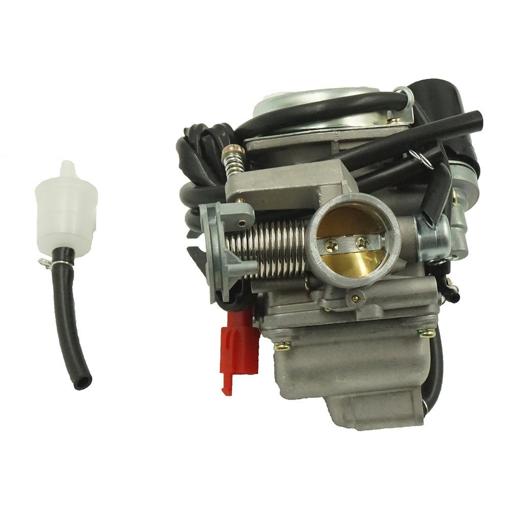 Glixal ATMT1-0741 26mm Big Bore Carburetor Carbs with Electric Choke for 157QMJ 1P57QMJ GY6 150cc Scooter ATV Go-Kart Moped