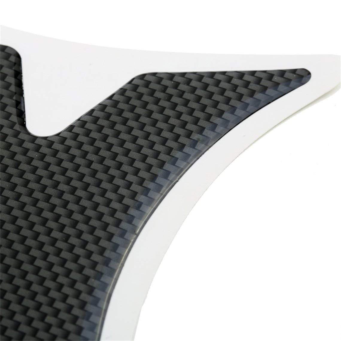 Zinniaya Impermeable Almohadilla del Tanque de Fibra de Carbono del Coche CBR 600 1000 Protector Pegatina para Honda Motocicleta 19 5 cm Accesorios de Veh/ículos de Autom/óviles