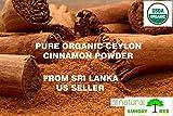 500 high fiber recipes - 1 LB (16 OZ) 100% ORGANIC PURE Premium CEYLON Cinnamon Powder, SRI LANKA