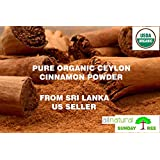 1 LB (16 OZ) 100% ORGANIC PURE Premium CEYLON Cinnamon Powder, SRI LANKA
