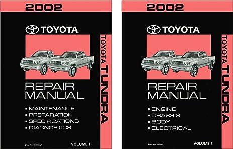 amazon com 2002 toyota tundra shop service repair manual book rh amazon com 2010 toyota tundra shop manual 2011 toyota tundra service manual