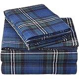 Pinzon Plaid Flannel Bed Sheet Set - King, Blackwatch Plaid
