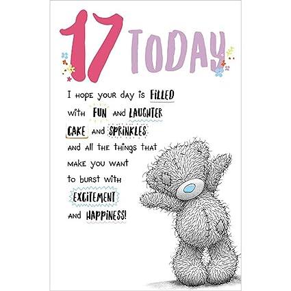 17 hoy Me to You Oso tarjeta de cumpleaños: Amazon.es ...