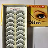 Model 21 False Eyelashes No. 25, 10 Pairs