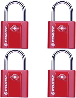 TSA Approved Luggage Locks, Ultra-Secure Dimple Key Travel Locks with Zinc Alloy Body, 2 and 4 Packs 10458028