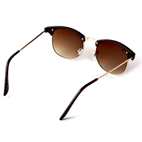 6cade9cfa749 Jimmy Octan Non-Polarized Browline Men's Sunglasses(JO-60-C2 55  millimeters Brown): Amazon.in: Clothing & Accessories