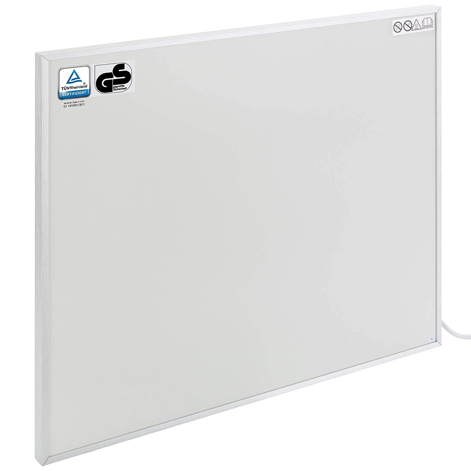 Arebos Chauffage infrarouge 300 W / possé dant le sigle GS / Protection anti-surchauffe / 605 x 505 x 22 mm Canbolat Vertriebs GmbH