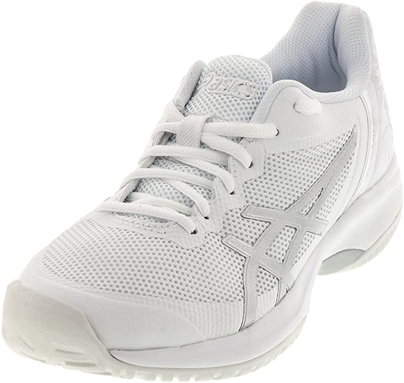 ASICS Mens Gel-Court Speed Tennis Shoes, White/Silver, Size 6 ...