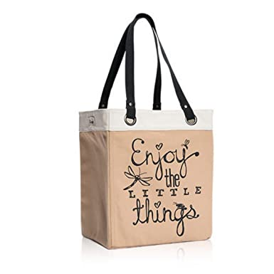 Superieur Thirty One Canvas Storage Tote In Enjoy The Little Things   8298