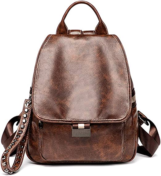 Canvas Bag Waterproof PU Leather Small Backpack Purse for Women School Bag for Girls Shopping Travel Bag Backpack