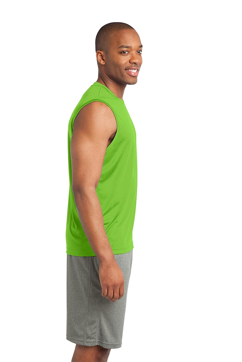 Lime Shock 2XL Clementine Mens Sleeveless PosiCharge Competitor Tee ST352