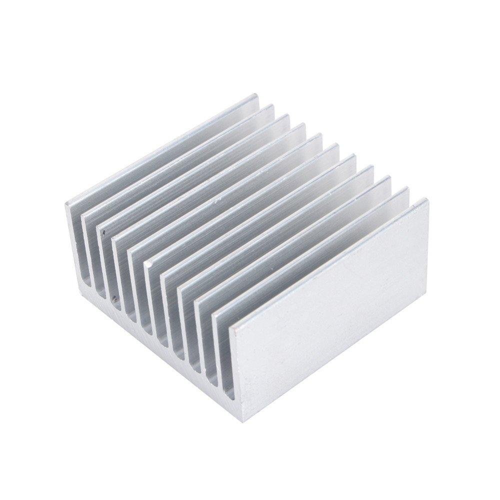 Professional Aluminum Heat Sink 40X40X20mm Metal Cooler Grille Shape Heat Sinks Silver