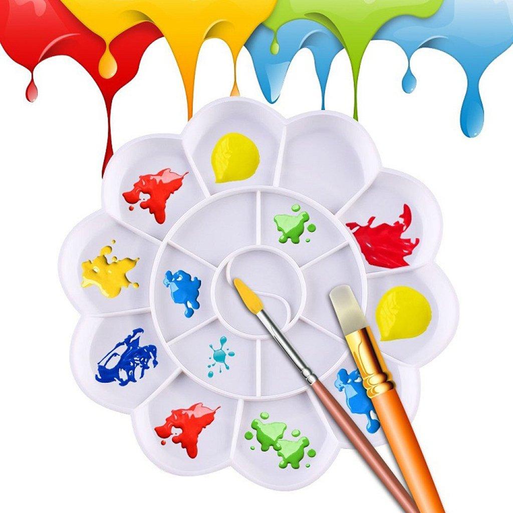 per acquerelli in plastica Tavolozza per pittura ad olio Huiouer 18 pozzi