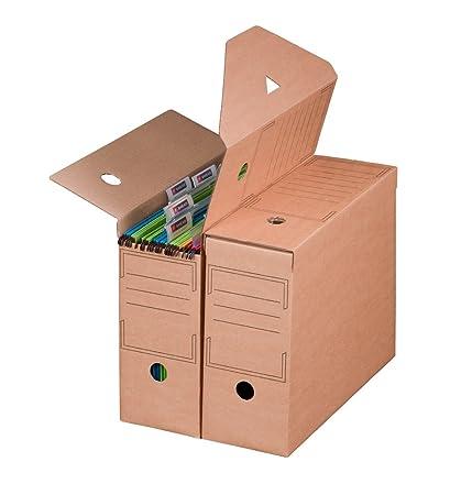 Smartbox Pro - Juego de cajas archivadoras (base automática para carpetas colgantes, 10 unidades