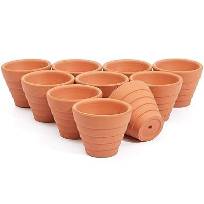Mini Clay Terra Cotta Pots (1.5 in. 12 Pack): Garden & Outdoor