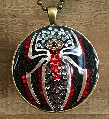 Spider Evil Eye Rhinestone Resin