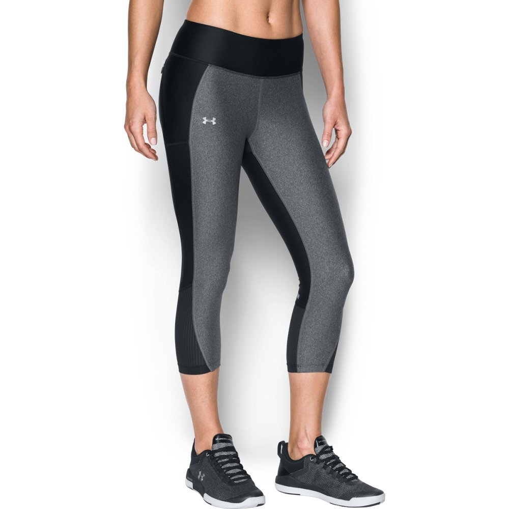 Under Armour Women's Fly-By Capri,Black (005)/Reflective, Small