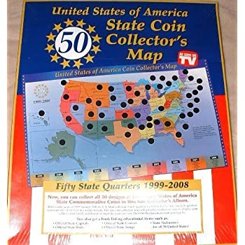 This Item United States Of America State Coin Collector S Map By Tri Star