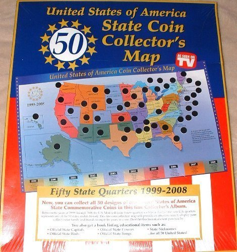 United States of America State Coin Collector's Map by Tri-Star