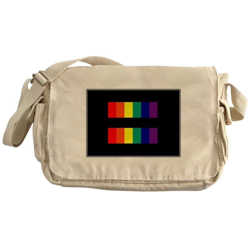 Royal Lion Khaki Messenger Bag Gay Pride Flag EqualRight HRC Style