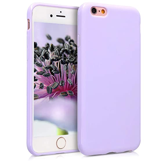 kwmobile TPU Silicone Case Compatible with Apple iPhone 6 / 6S - Soft Flexible Protective Phone Cover - Lavender