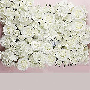 DIY Artificial Rose Flower Heads Silk Decorative Flower Hotel Background Wall Decor 25Pcs DIY Road Led Wedding Flower Bouquet 69