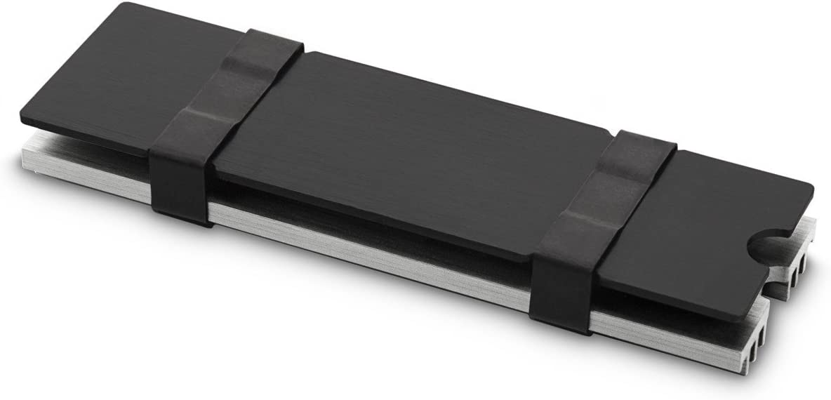 Ventilador de PC Unidad de Disco Duro, Disipador t/érmico, Gris, Aluminio, Acero Inoxidable EK Water Blocks EK-M.2 NVMe Heatsink Unidad de Disco Duro Disipador t/érmico