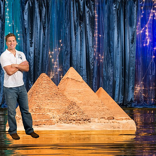 Egyptian Egypt Pyramids Standee Standup Photo Booth Prop Background Backdrop Party Decoration Decor Scene Setter Cardboard Cutout