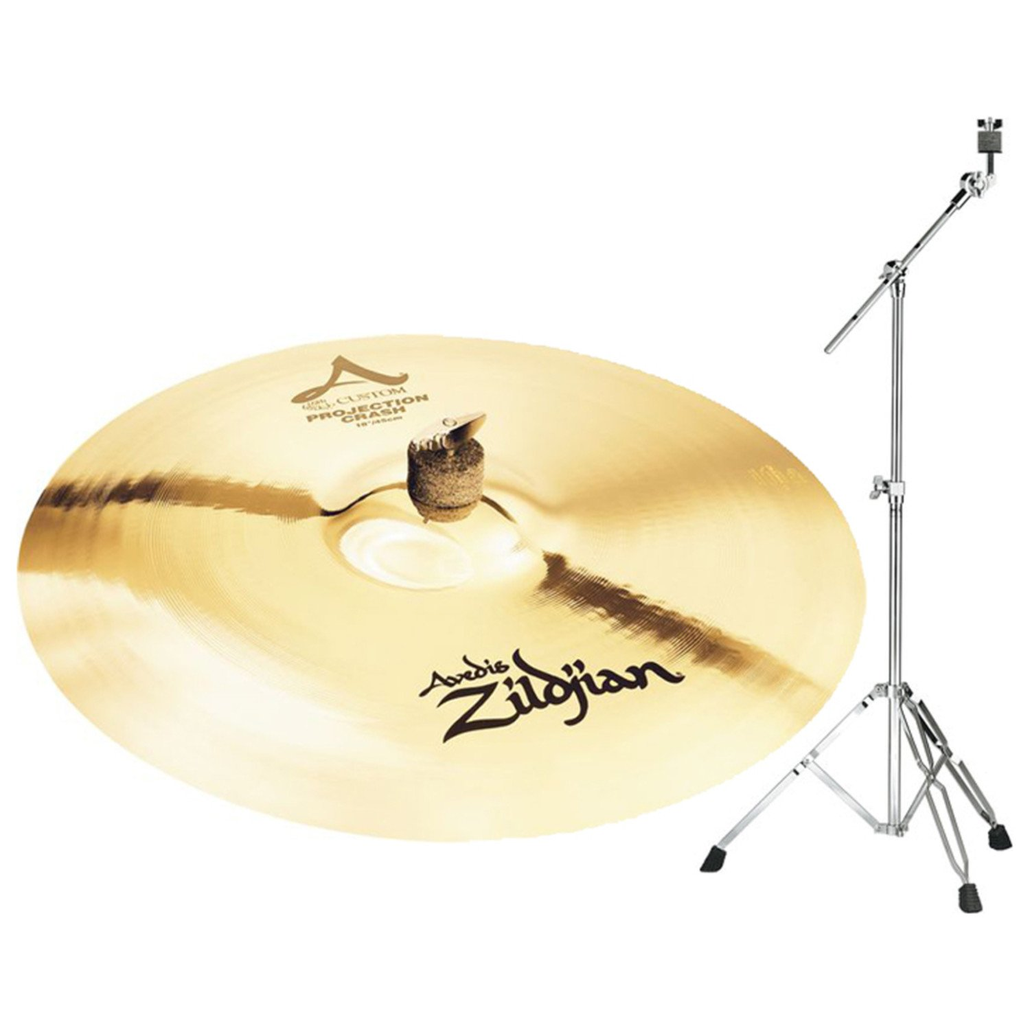 Zildjian A20584B18 A Custom 18'' Projection Crash Cymbal w/ Boom Stand by Avedis Zildjian Company