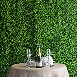 Efavormart 4 Pack Green UV Protected Artificial Faux Genlisea Foliage Wall Mat Photo Booth Garden Panel Home Event 15
