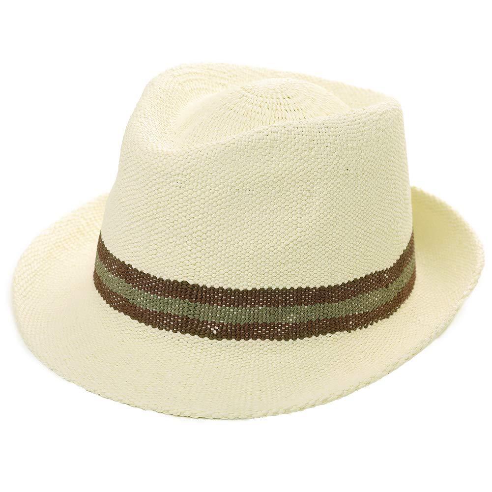 81ae1aa78f9 Womens Mens Straw Cuban Fedora Brim Panama Beach Crushable Packable Havana Summer  Sun Hat Lady Party Beige at Amazon Men's Clothing store: