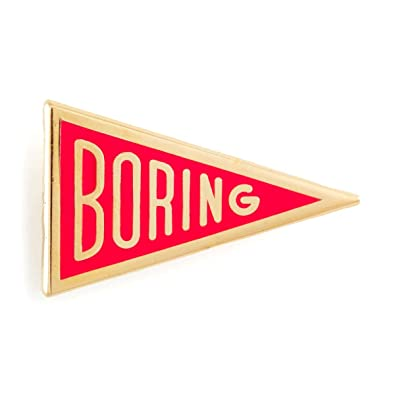 Amazon com: These Are Things Boring Enamel Pin: Jewelry