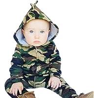 QinMM Baby Kleidung, Neugeborenes Baby Junge Mädchen Kapuze Overall Kleidung 0-24 Monate