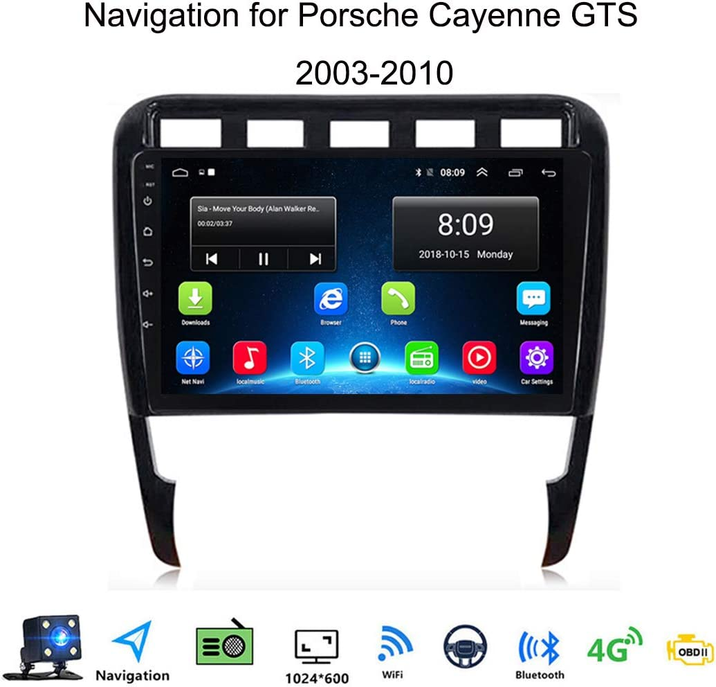 Android 8.1 Car Radio de Navegaci/ón GPS para Porsche Cayenne GTS 2003-2010 con 9 Pulgada Pantalla T/áctil Support WLAN FM Am//MP5 Player//Bluetooth Steering Wheel Control