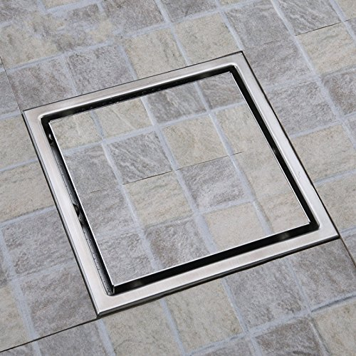 Tile Insert Rectangular Floor Waste Grates Bathroom Shower Drain