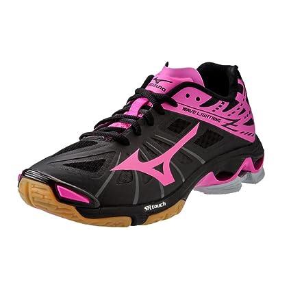08d05eb35d9c Amazon.com  Mizuno Wave Lightning Z Women s Volleyball Shoes - Black   Pink  (Women s 12)  Sports   Outdoors