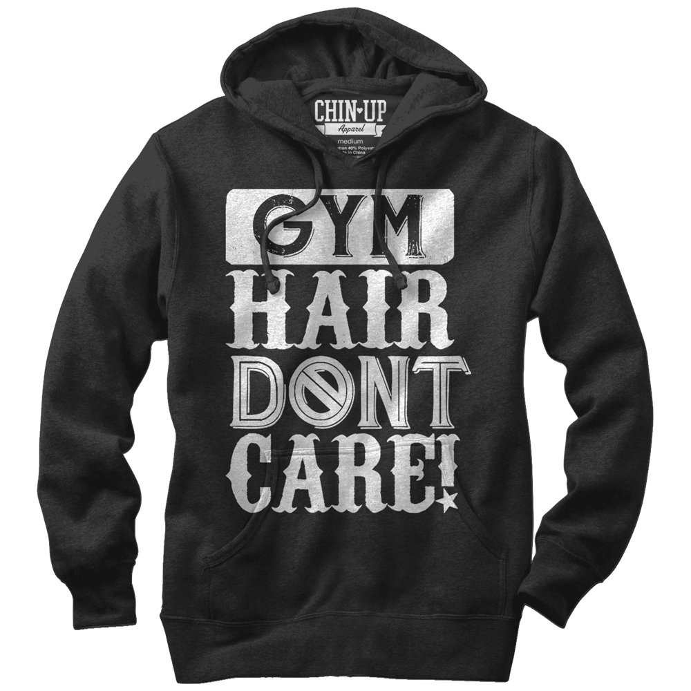 Chin Up Women's Gym Hair Don't Care Hoodie