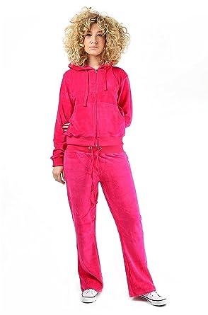 e0a385602 Malaika ® Womens 2 Pcs Velour Full Tracksuit Hoodie Jogging Pants Ladies  Zipper Joggers Sport Gym Plus Sizes: Amazon.co.uk: Clothing