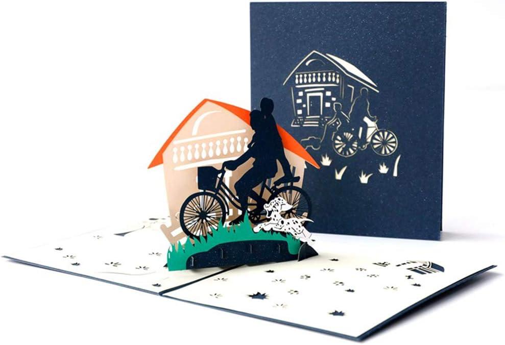 DEESOSPRO® [Tarjeta de Cumpleaños] [Tarjeta de Aniversario] con Patrón Emergente 3D Creativo, Regalo para Cumpleaños de papá, Navidad, Día del padre (Dad and Me)