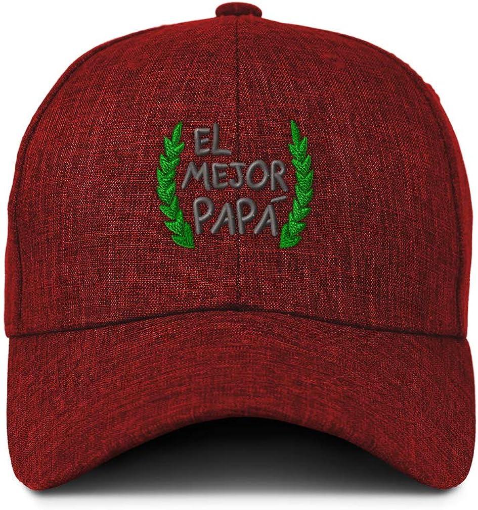 Custom Baseball Cap El Mejor Papa Laurel Frame C Embroidery Acrylic