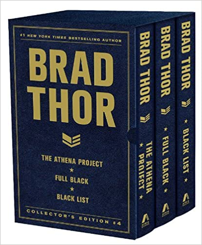 Book Brad Thor Collectors' Edition 4: The Athena Project, Full Black, and Black List