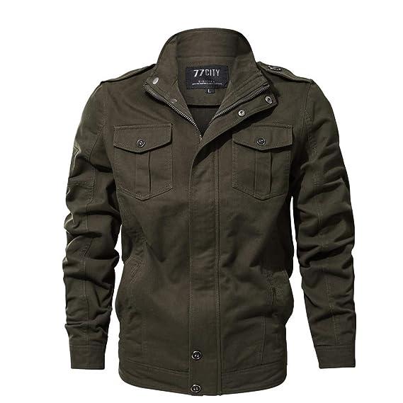 MIRRAY Herren Jacke Herbst Winter Casual Langarm Solide Knopf Taschen  Tooling Mantel Strickjacke 8e0c95afd0