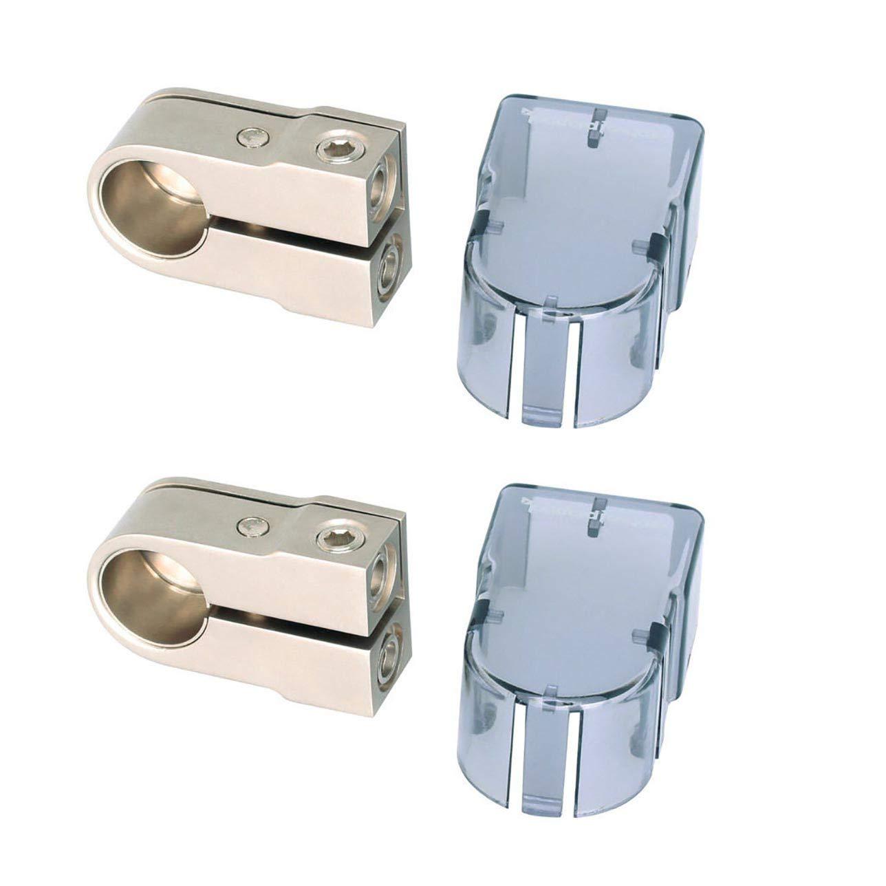Rockford Fosgate 4 AWG Positive/Negative Car Amplifier Battery Terminal (2 Pack)