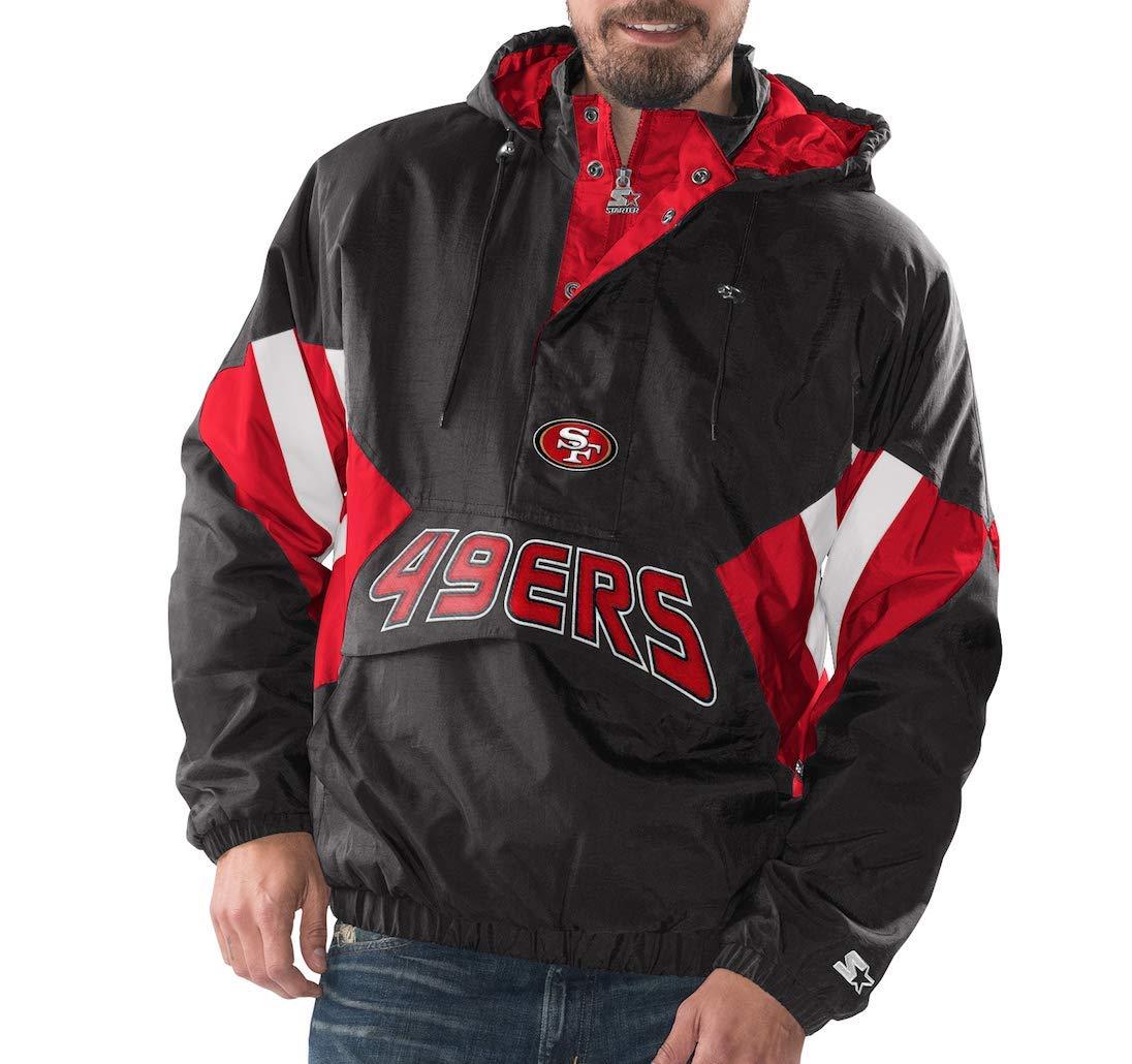 Amazon.com   San Francisco 49ers Starter Vintage Enforcer Hooded Half-Zip  Pullover Jacket   Sports   Outdoors fe5be4343