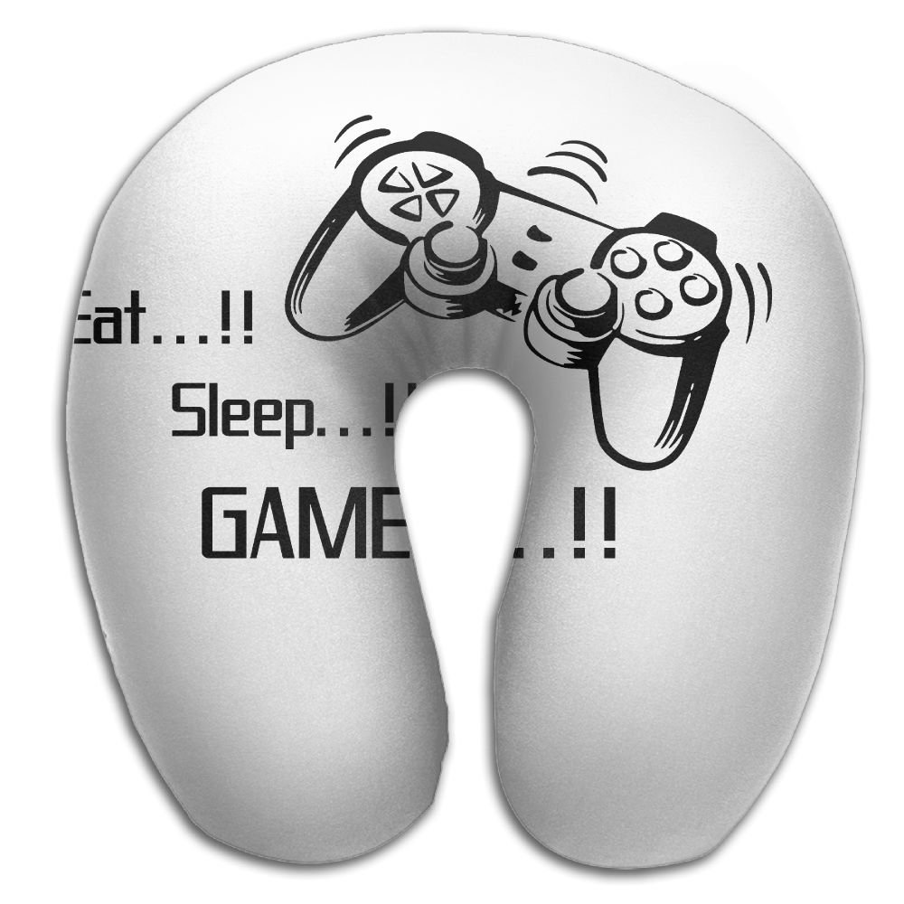 Multifunctional Neck Pillow Eat Sleep Game U-Shaped Soft Pillows Convertible Portable For Reading,Sleeping On Airplanes,Train,Car,and Travel